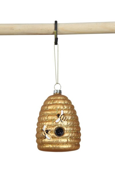 Mercury Glass Beehive Ornament