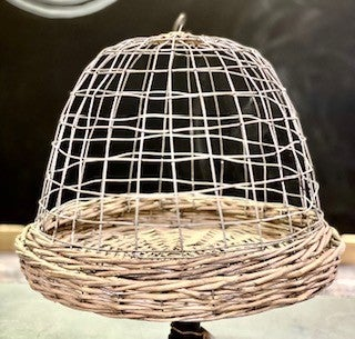 Wire Wicker Cloche