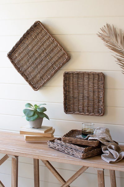 Square Rattan Trays