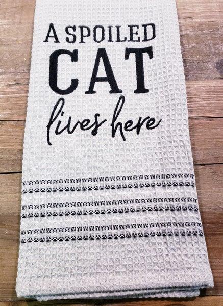 Spoiled Cat Tea Towel