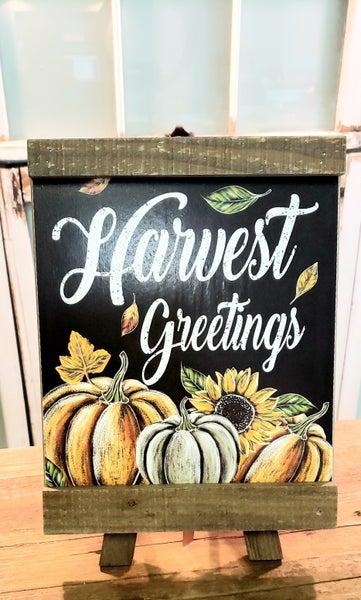 Harvest Greetings Easel