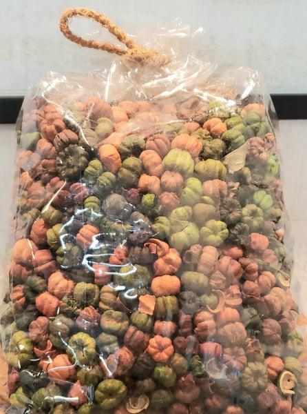 Bag of Orange & Green Mini Pumpkins