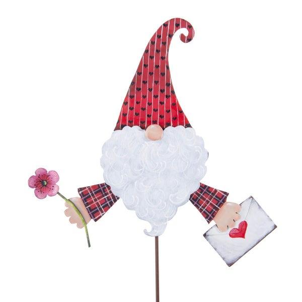 Valentine Gnome Stake