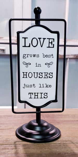 Small House Love Sign