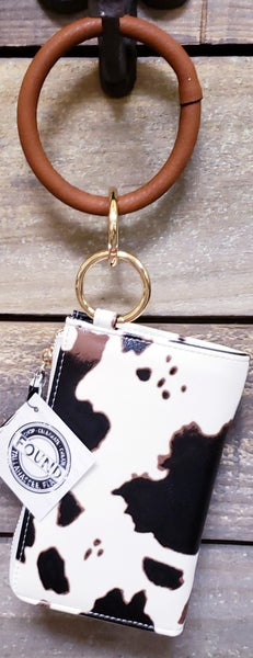 Cow Print Leather Wallet