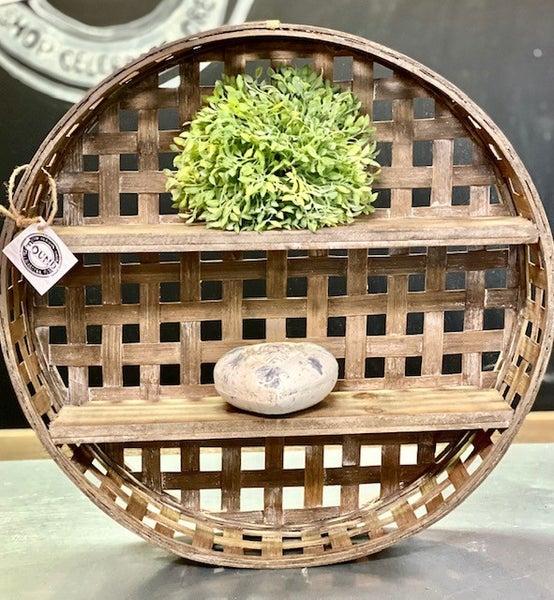 Basket Wall Shelf (oversized item)