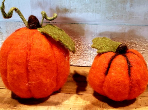 Bright Felt Pumpkin