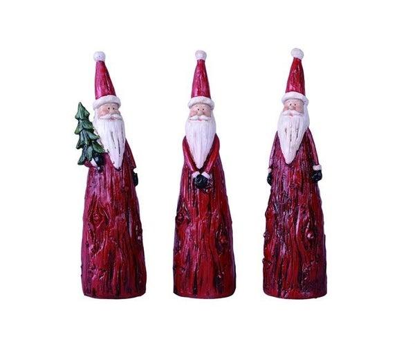 Small Wooden Cone Santa