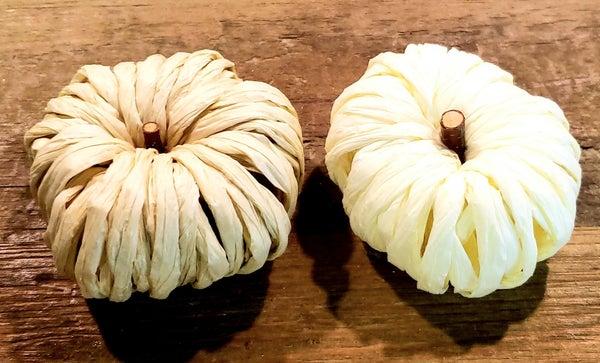 Mini Raffia Pumpkins
