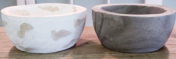 Small Round Weathered Bowl