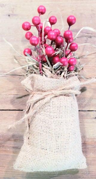 Cranberries in Burlap