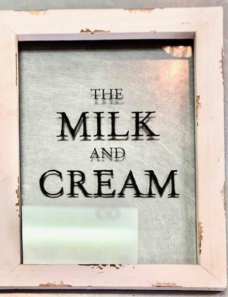 Milk & Cream Glass Picture