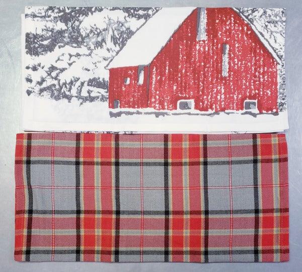 Set of 3 Winter Scenes Tea Towels