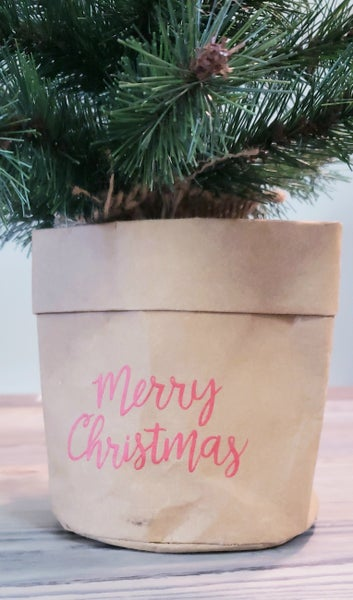Merry Christmas Crock Holder