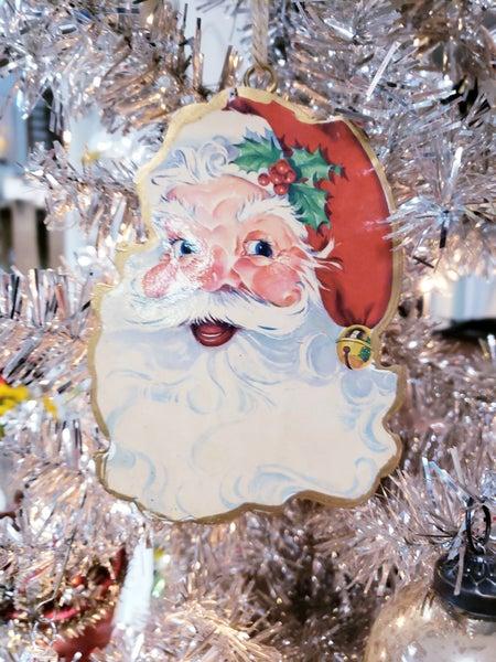 Vintage Santa Double Sided Ornament
