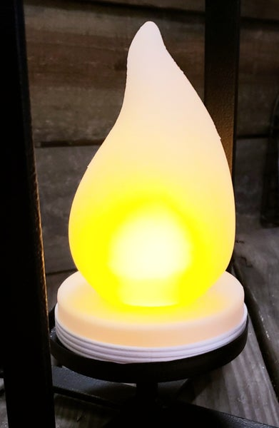 Lighted Flame Bulb