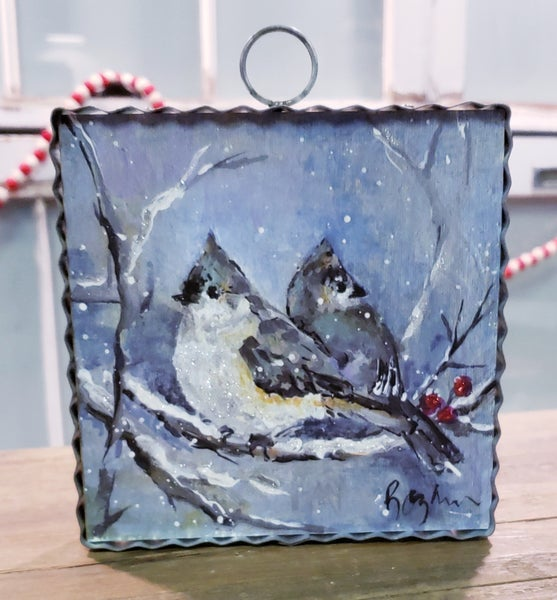 Snowy Blue Jays