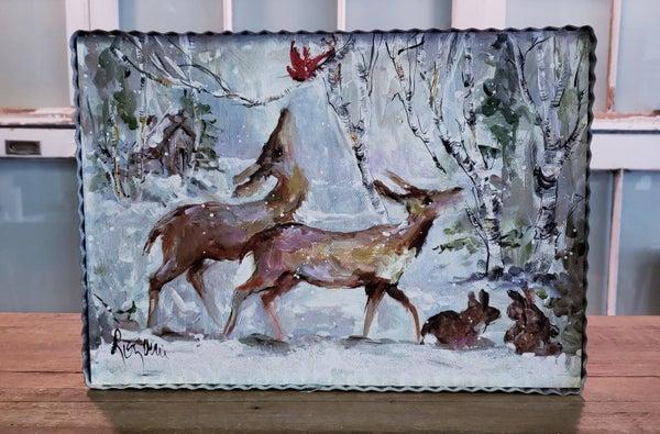 Playful Deer Winter Gallery