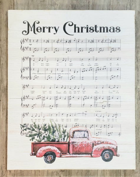 Extra Large Christmas Melody Plaque LOCAL PICK UP ONLY NO SHIPPING