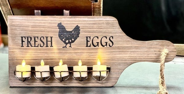 Wall Mounted Cutting Board Egg Holder