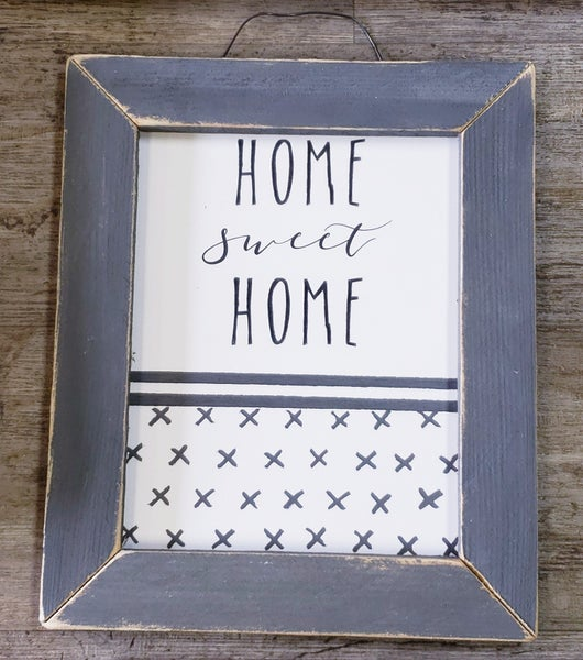 Bless This Home Sign w/ White Frame