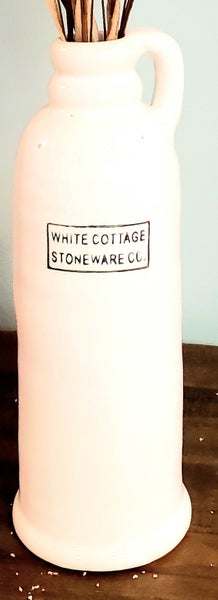 Tall White Cottage Jug