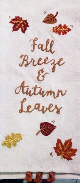 Fall Leaves Tea Towel