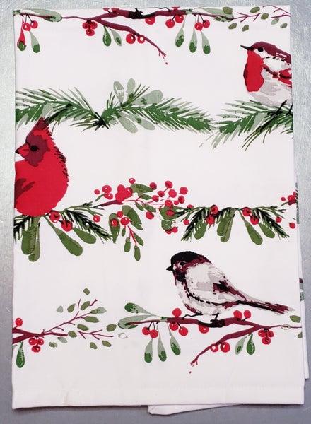 Birds & Berries Tea Towel