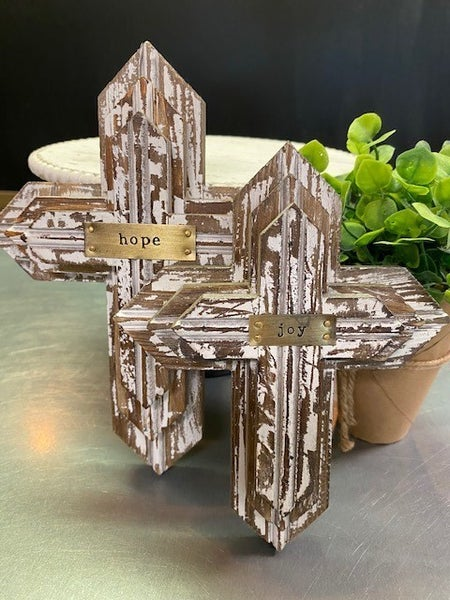 Wood Stacked Crosses