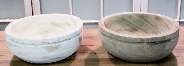 Large Round Weathered Bowl