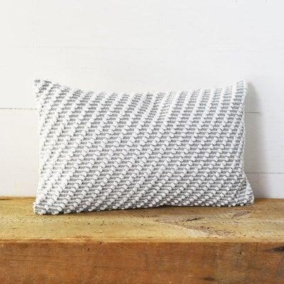 Grey Durrie Lumbar Pillow