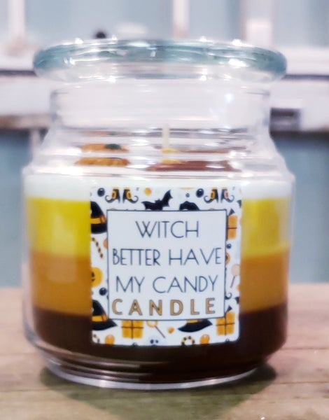 Witch Candy Candle