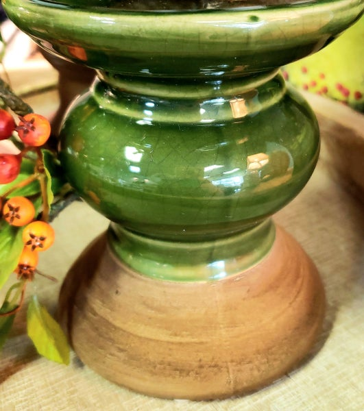 Dark Green Candle Holders