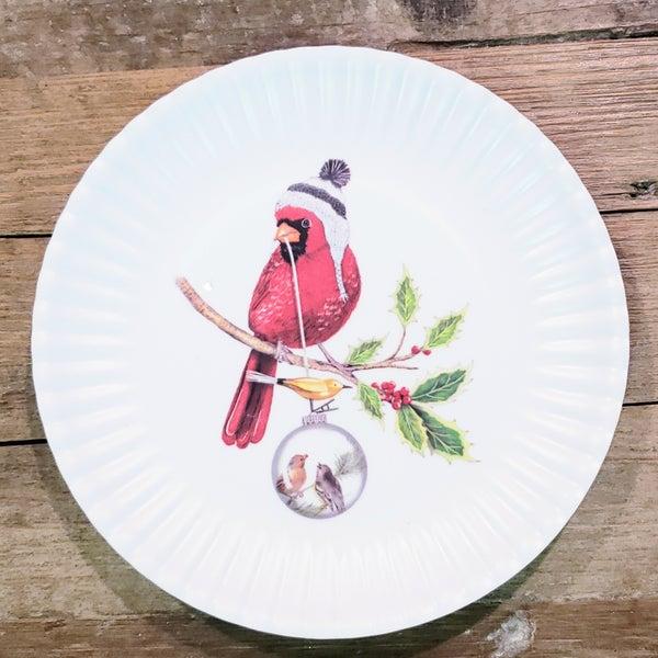 Small Cardinal Melamine Plates