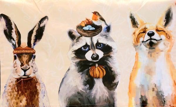 Thankful Raccoon Tea Towel