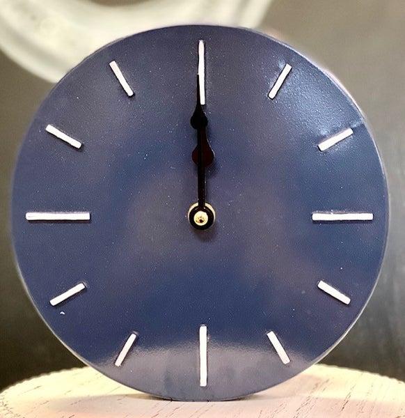 Small Navy Wall Clock