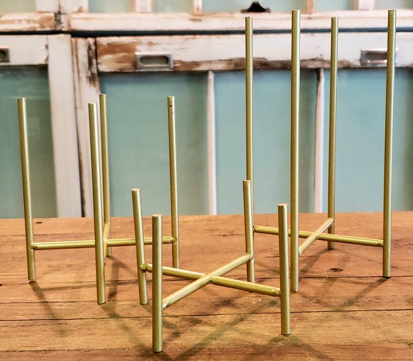 Gold Flicker Candle Stand