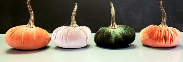 Medium Velvet Pumpkins