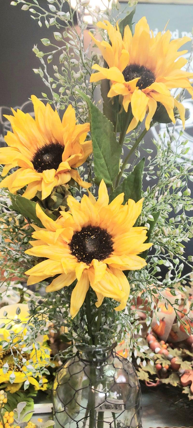Sunflower Stem w/Bud