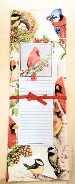 Christmas Cardinal Tea Towel & Notepad Set