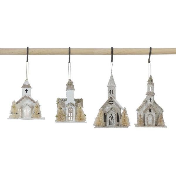 Church w/ Trees Ornament