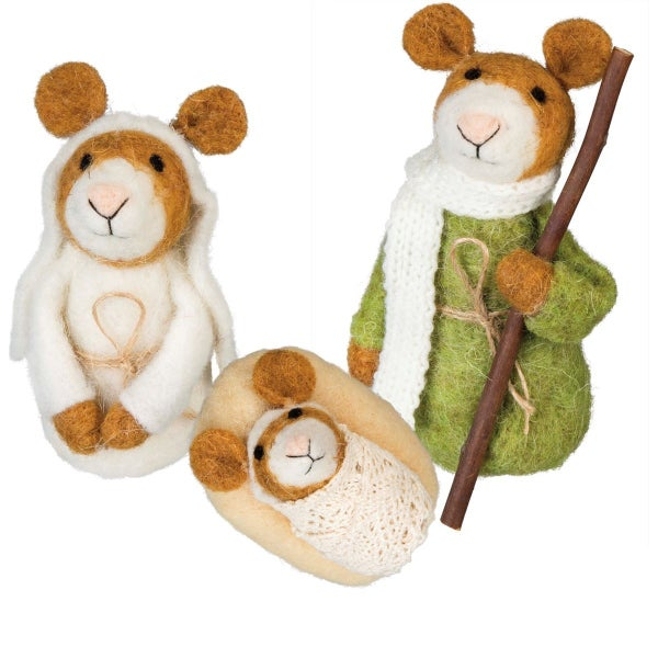 Wool Mouse Nativity