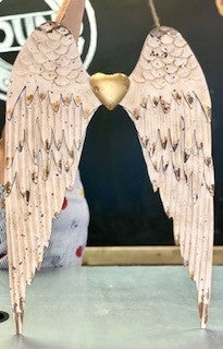 Angel Wings w/ Gold Heart