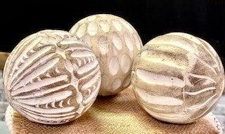 Carved Wood Balls
