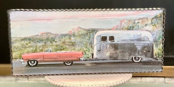 Vintage Cadillac and Trailer Picture