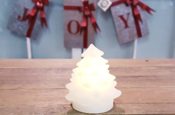 Tiny Christmas Tree LED Candle