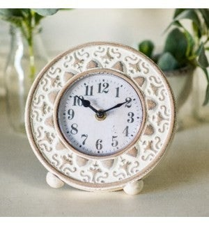 White Table Top Clock