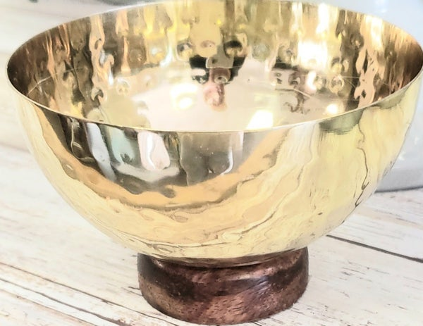 Hammered Brass Bowl