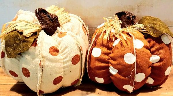 Medium Polka Dot Pumpkin