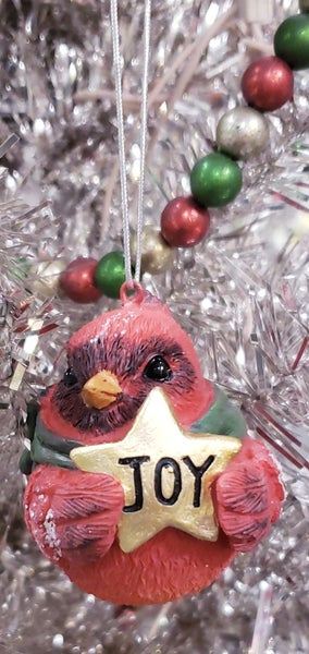 Cardinal w/ Message Ornament